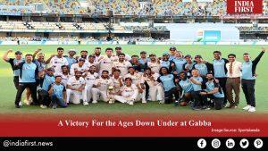 India's victory- Gabba