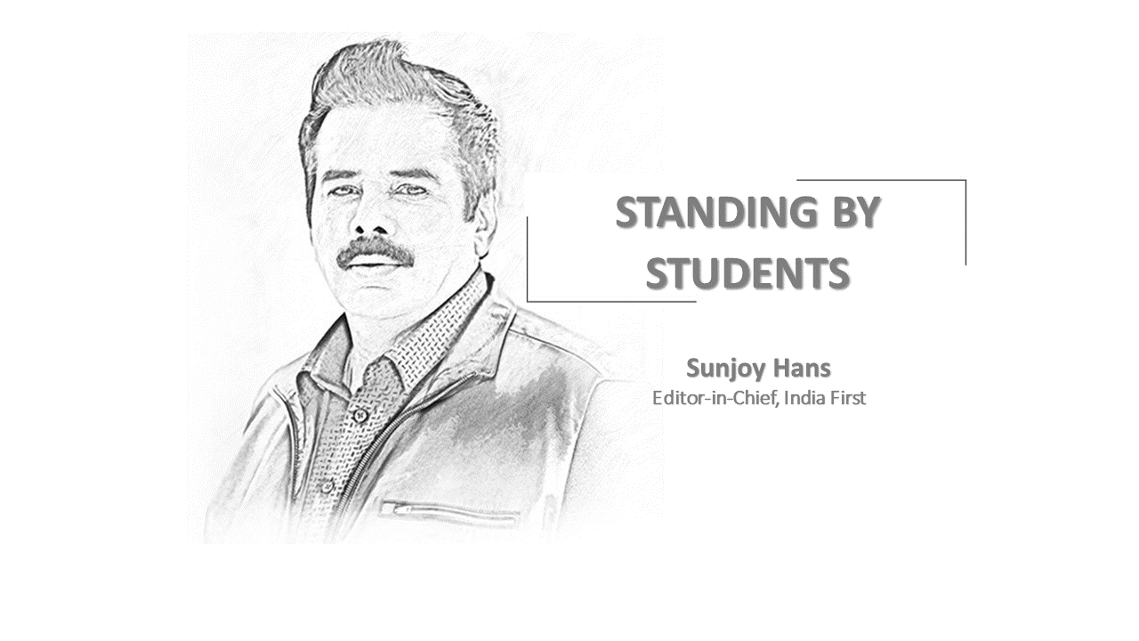 STANDING BY STUDENTS